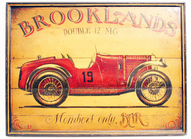 Brooklands 'Member's Only Bar' Wooden Sign