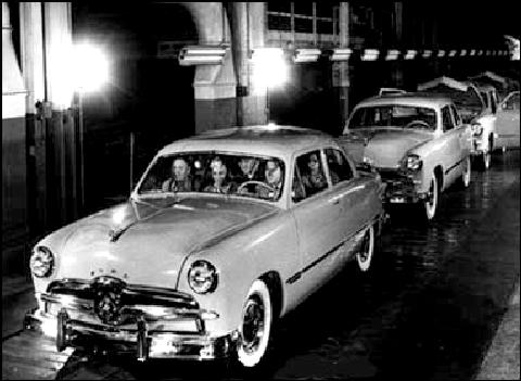 Ford Tudor First Off Production Line (1949)