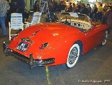 Jaguar XK 150 Roadster 1959 Rear three quarter view