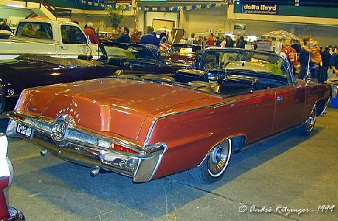 Imperial Crown Convertible 1965 Rear three quarter view