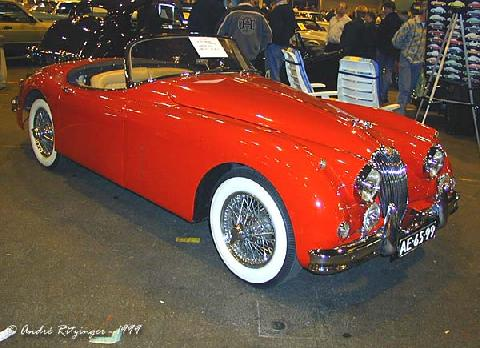 Jaguar XK 150 Roadster 1959 Front three quarter view