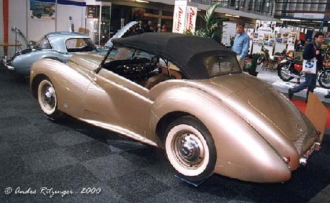 Westland Healey Convertible 1947 Rear three quarter view