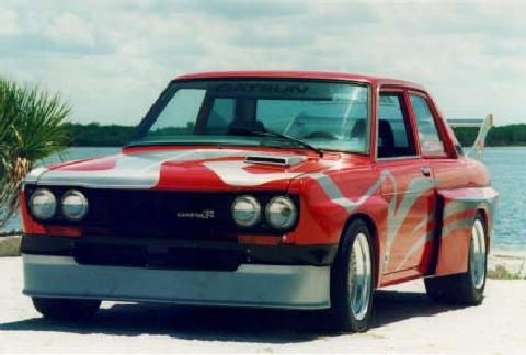 197x Datsun 510 Widebody Redsilver2