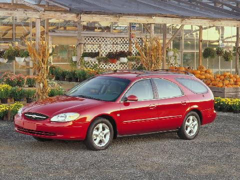 2000 Ford Taurus Wgn, Red,  Front View1, 1024x768