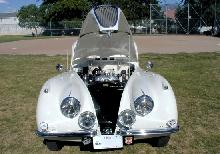 Jaguar Xk120 Fhc White Fv Openhood (1954)