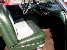 Lincoln Capri Sports Coupe Greenwhite Interior (1955)
