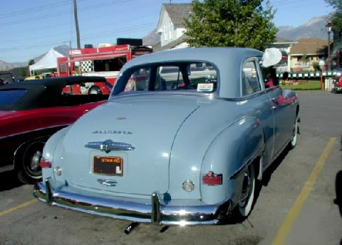 Plymouth Special Deluxe Coupe Blue Cooler  Rvr (1950)