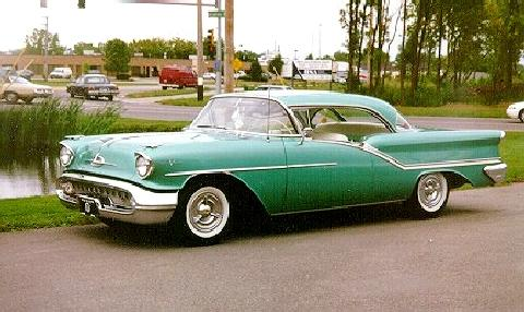 Oldsmobile 98 Holdiay Coupe Green  Fvl (1957)