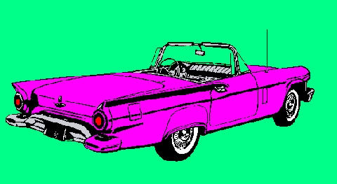 Thunderbird Magenta Graphic (1957)