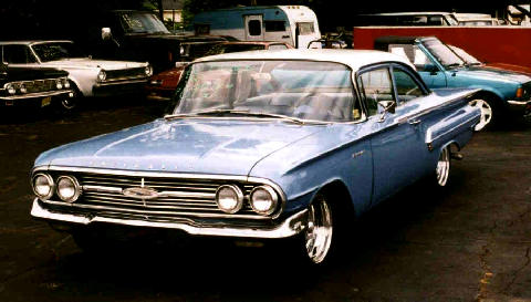 Chevrolet Biscayne 2d Sedan Blue  Fvl (1960)