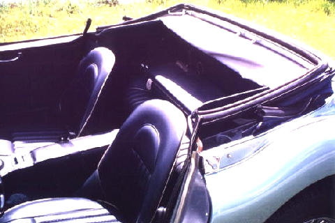Austin Healey 3000 Mk3 Interior, Rear Compt (1966)