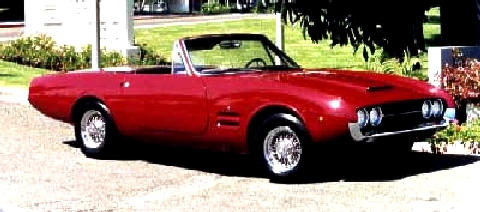 Ghia 450ss Convertible Red  Fvr (1967)