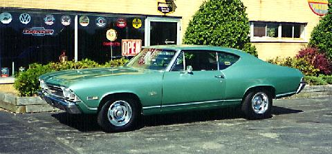 Chevrolet Chevelle Malibu Sports Coupe Green  Fvl (1968)
