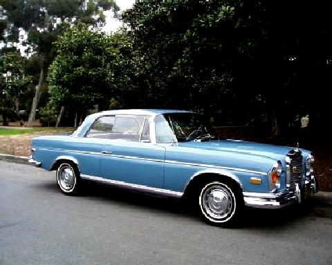 Mercedes Benz 250se Coupe Lightblue  Fvr (1968)
