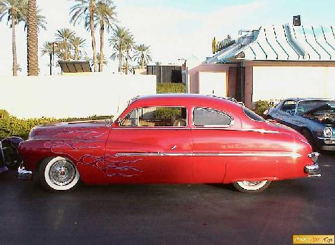Mercury 1950 2dr Sdn Red Rsvw Cstmzd