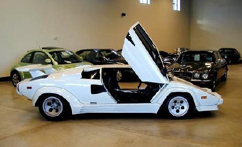 Lamborghini Countach White Svr Open Door 1985 Picture Gallery