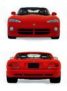 1992 Dodge Viper RT 10 Front Rear