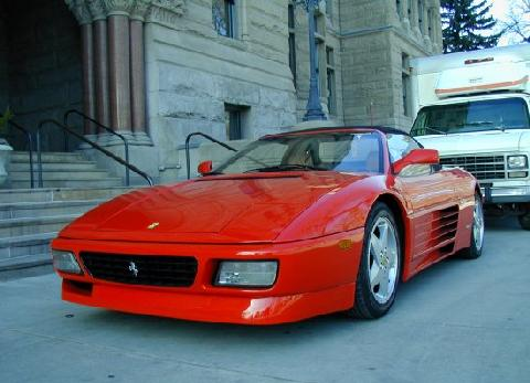 Ferrari 348 Spider Tu Red FVl Closeup   (1994)