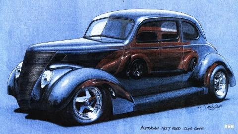 Ford Hot Rod   Sketch KRM (1937)