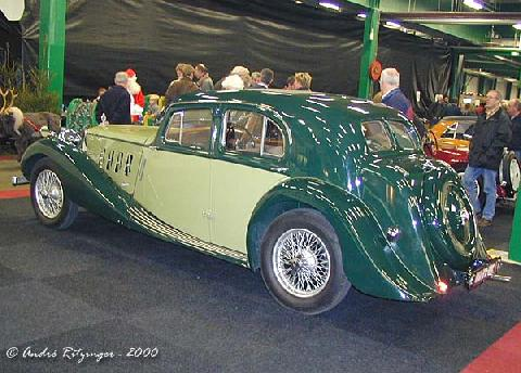 MG SA Saloon 1938 Rear three quarter view