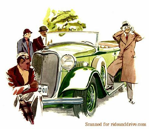 Lincoln KA Phaeton Advert Rd  (1933)