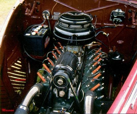 Lincoln Zephyr Sedan Red V12 Engine Msc0 5 14 1939