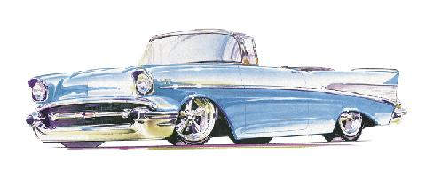 Chevy Drawing (1957)