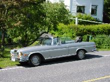 Mercedes Benz 280SE 3.5 Cabriolet, Silver, Side (1969)