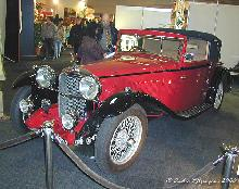 Alvis Speed Twenty Drophead Four Seater Coupe 1933 FRear three quarter view