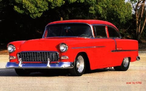 Chevy Bel Air Pro Street Red KRM (1955)