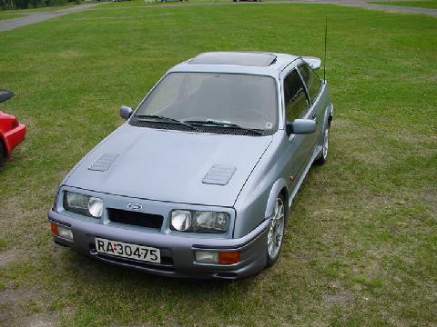 Ford Sierra RS Cosworth, Ltblue, Front Corner (1987)