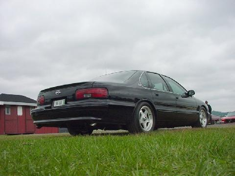 Chevrolet Impala SS, Black, Rear Corner Low (1996)