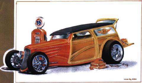 Hot Rod Drawing14 KRM