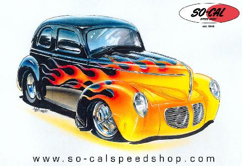 Hot Rod Drawing16