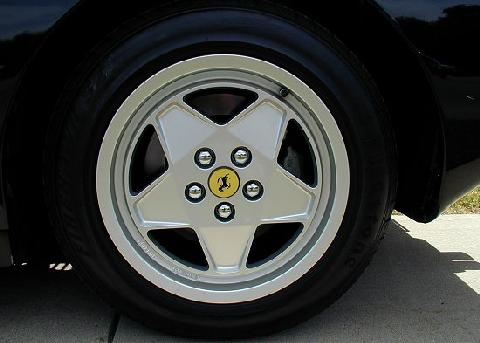 Ferrari Testarossa Black Wheel Closeup   (1990)