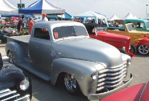 194x Chevy Pickup Silver Hot Rod Fsv