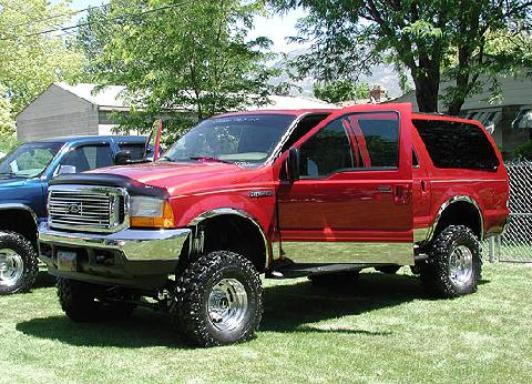 2000 Ford Excursion Red FVl