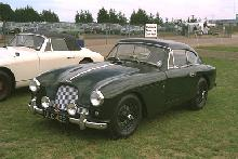 Aston Martin DB2/4 (dark green, front side view)