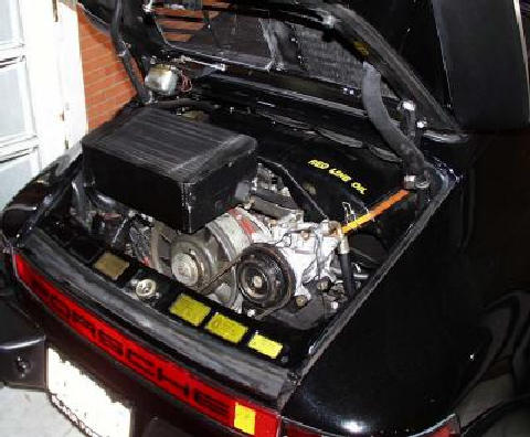 Porsche 930 engine bay