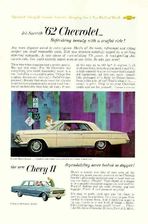 Chevrolet Impala Sport Coupe Advert (1962)