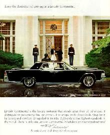 Lincoln Continental Sedan Advert (1965)