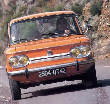 NSU 1200 TT (1970, orange bodywork, front view)