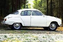 Saab 96 (white bodywork, sideview)