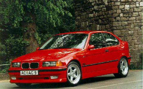 1996 bmw 318 hatch red