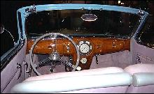 Lincoln Zephyr Convertible Interior (1936)
