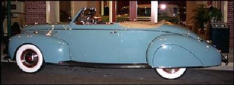 Lincoln Zephyr Convertible Side View (1936)