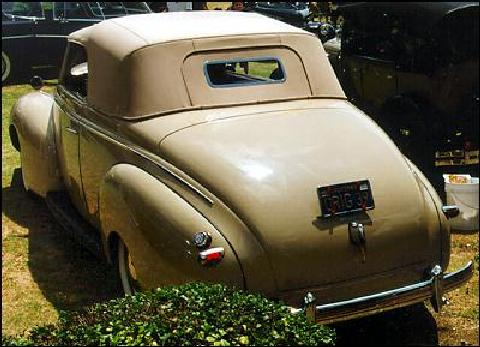 Mercury Convertible Club Coupe Rear view Tu (1939)