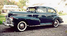 Chevrolet Stylemaster 2d Sedan Front View(1946)