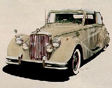 1949 Jaguar Mk V DHC Front view White