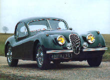 Jaguar Xk120 Coupe Front view (1952)